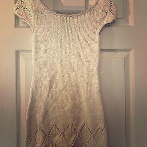 Cream knit dress